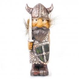 14,5 cm Wikinger mit Haaren - Schwert und Schild