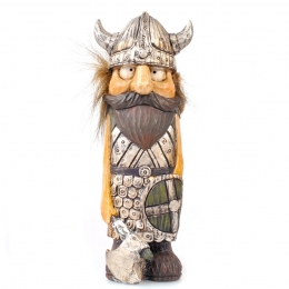 14,5 cm Wikinger mit Haaren - Schwert und Axt