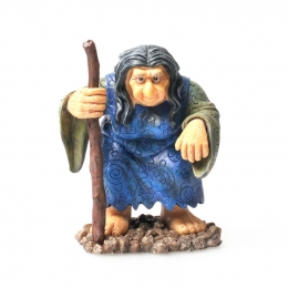Troll-Frau mit Stock - Resin Figur