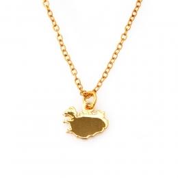 Halskette - Islandkarte - goldfarben