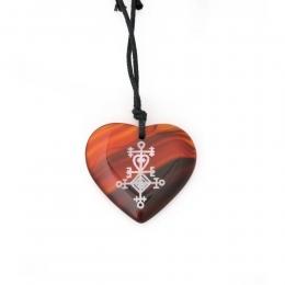 Halskette - Naturstein-Herz - Symbol Liebe