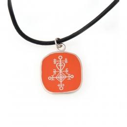 Halskette Cloisonné Imitation - Symbol Liebe