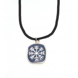 Halskette Cloisonné Imitation - Symbol Helm der Ehrfurcht