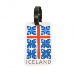 Kofferanhänger - 3D geformt - Island Flagge