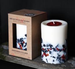 Lava Sojawachs-Kerze 10 cm - handgefertigt - Railis Design