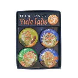 4 Magnete - Isländische Weihnachtsmänner - Set 3