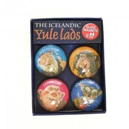 4 Magnete - Isländische Weihnachtsmänner - Set 4