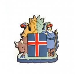 Geformter 3D-Magnet - Wappen von Island