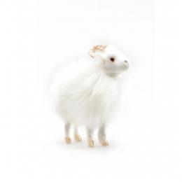 Islandschaf mit Hörnern - weiß - 9 cm