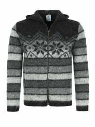 KIDKA 070 Icelandic Unisex Hoody - grey-black striped