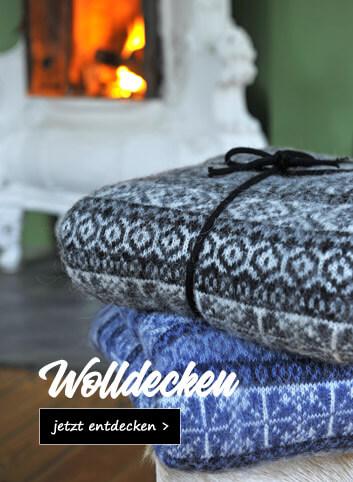 Isländische Wolldecken
